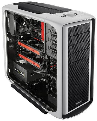 Caja para ordenador, marca Corsair, con dos Radeon en crossfire