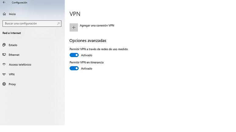 Como agregar una conexión VPN en nuestro PC