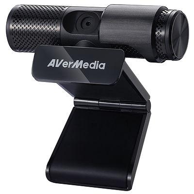 Cámara web marca AVerMedia, modelo PW313, color negro