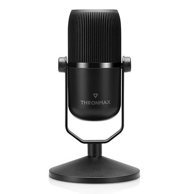 Micrófono marca Thronmax, modelo Mdrill Zero, USB-C, color negro, aspecto profesional