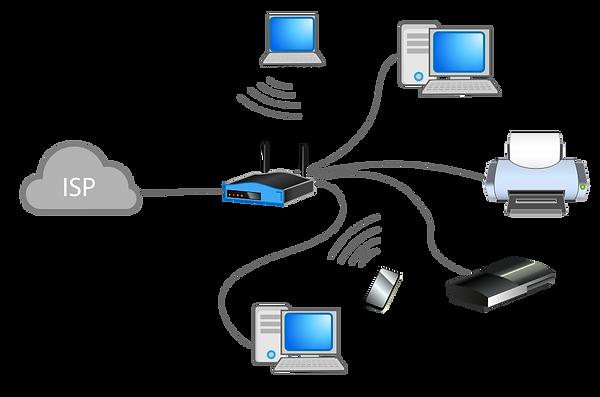 La red del hogar es una LAN (Local Area Network).