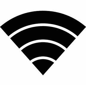 Logo señal wifi en blanco y negro