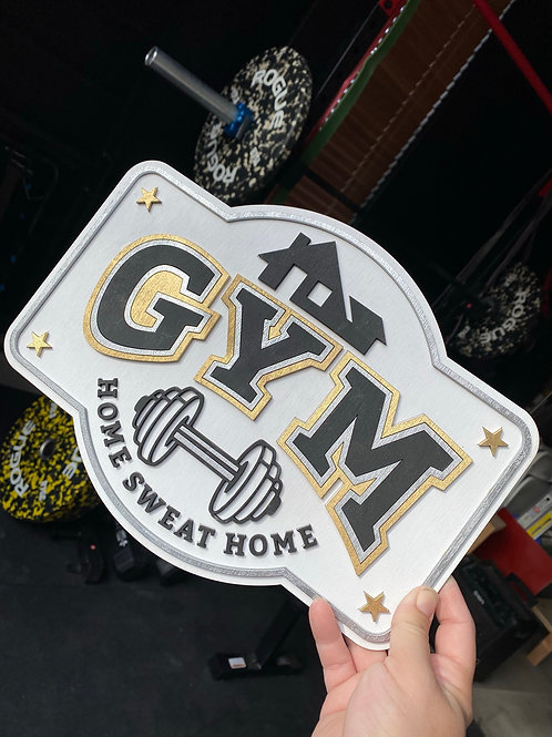 Home Gym Sign