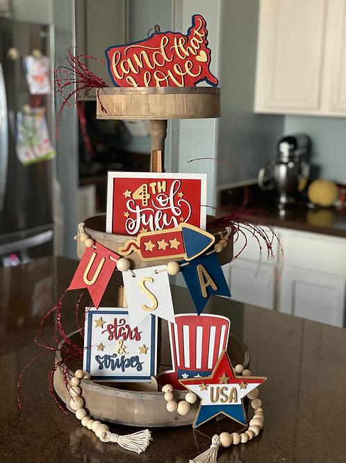 Fourth of July Decor Set (in full set or mini set)