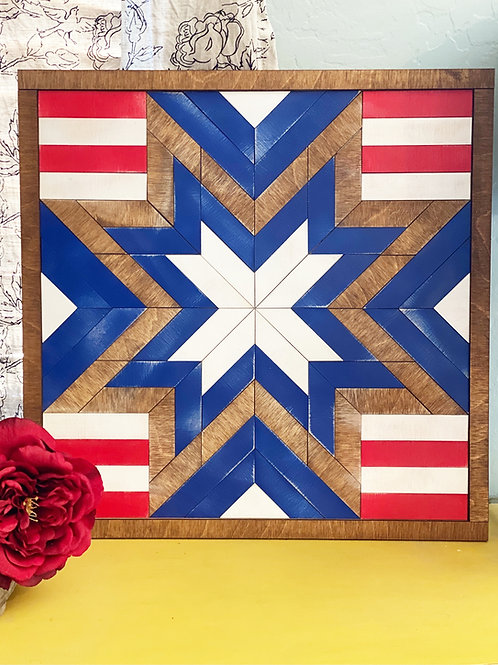 Stars and Stripes Barn Quilt Sign