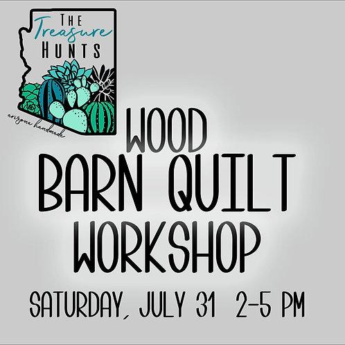 Barn Quilt Sign WORKSHOP