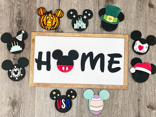 Mickey Interchangeable Home Sign