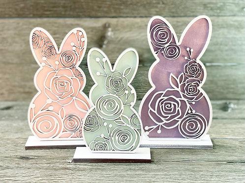 Floral Easter Bunny set