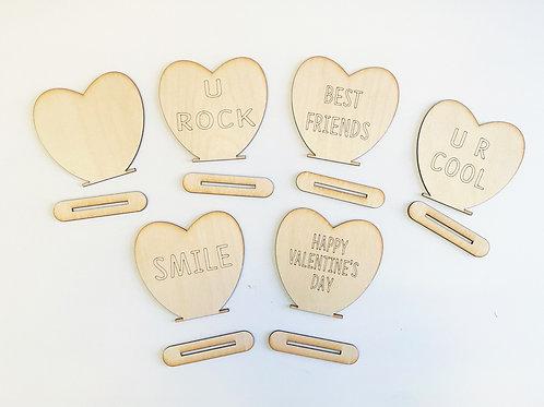 Valentine Standing Hearts