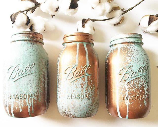 Copper Patina Jars