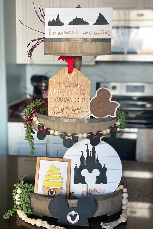 Happiest Place on Earth Tiered Tray Set