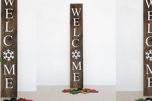 Welcome sign interchangeable