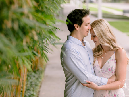 Romantic Engagement Session at The Menil Collection Houston, TX | Madi & Emanuel