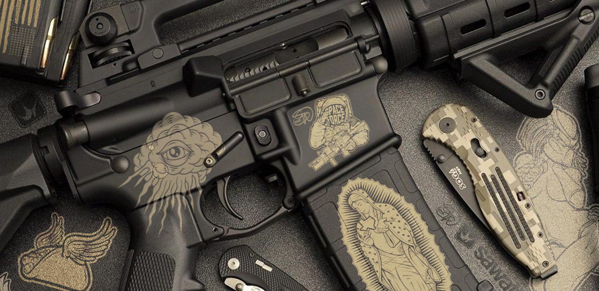 Fragout Firearms PMAG Magpul Laser engraving Artwork