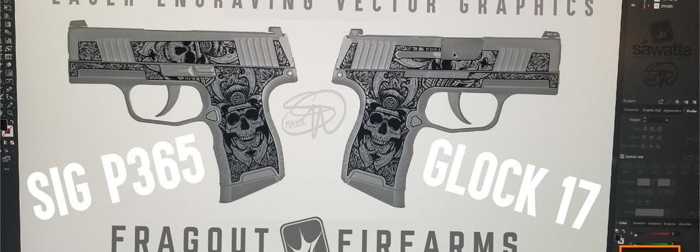 Custom Sigsauer & Glock Laser Engraving design
