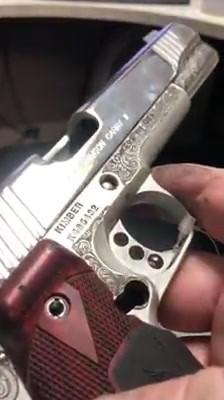 Custom Laser Engraving on a Kimber 1911