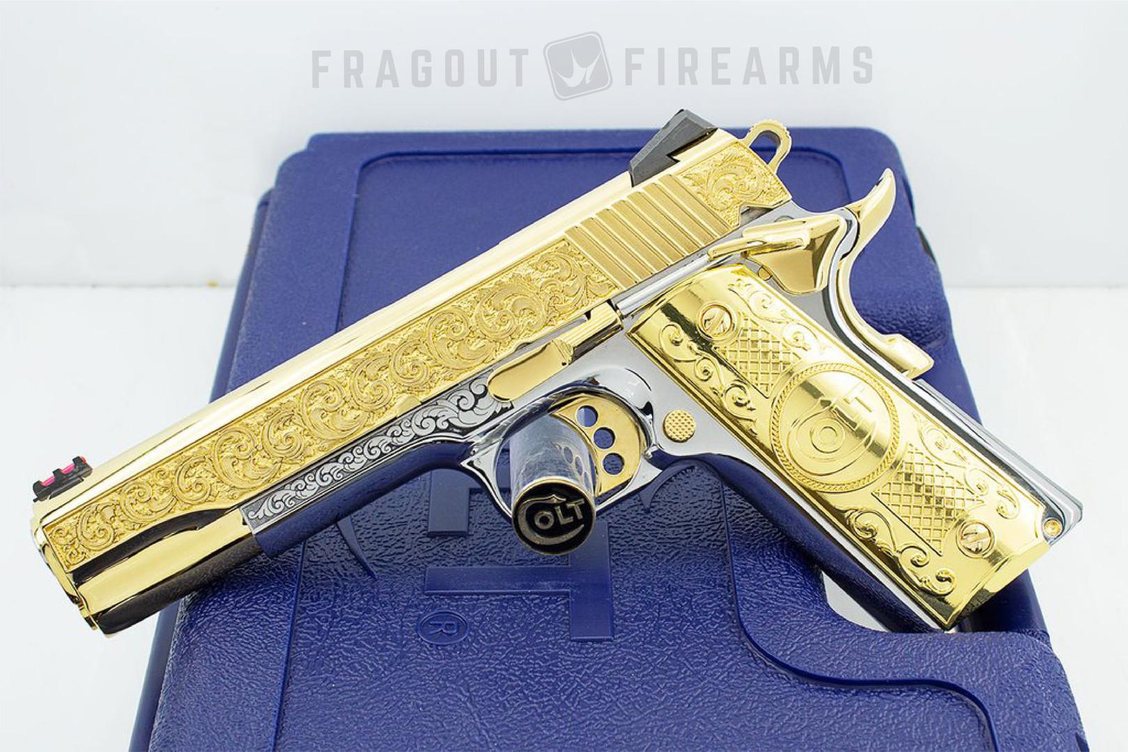 _ GOLD COLT 1911 Slide art by Fragout Fi