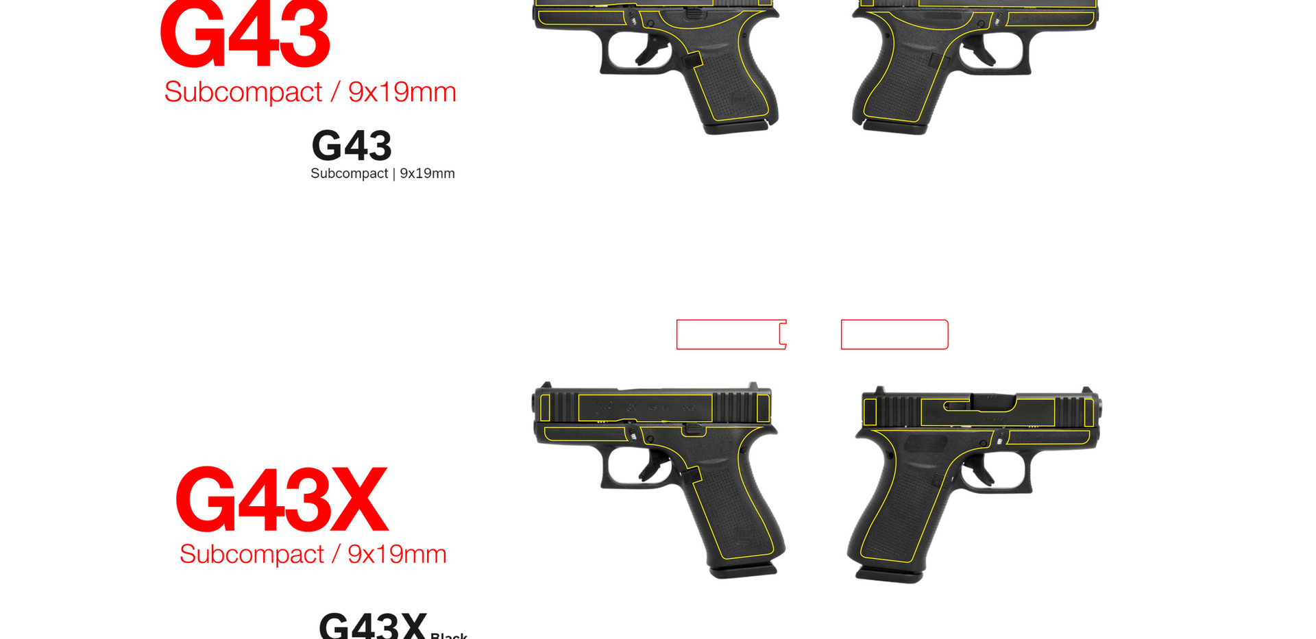 Glock Templates for Laser Engraving Firearms