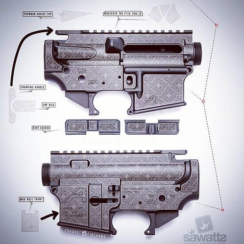 AR15 Vector Templates Bundle by Fragout Firearms