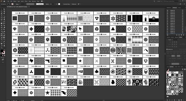 Borderless Vector Pattern Bundle (118 Designs)