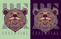 BEAR ESSENTIAL BRANDED Illy Logo Layouts