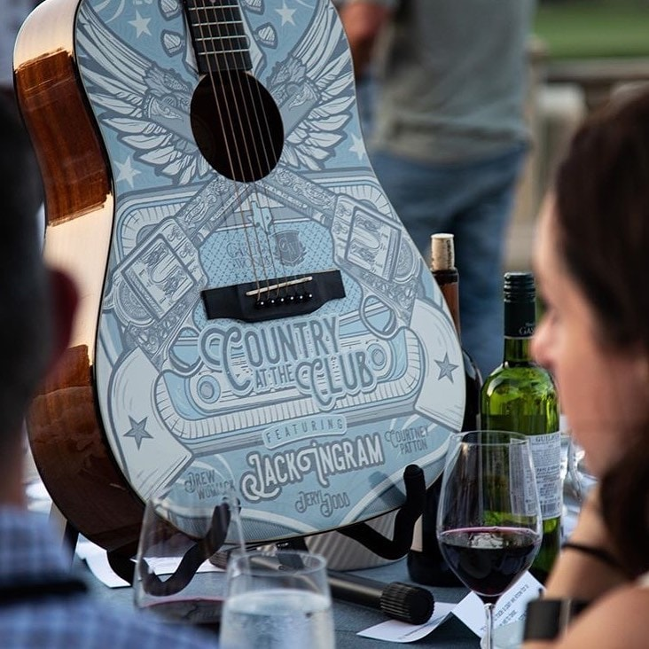 Country at the Club Guitar wrap
