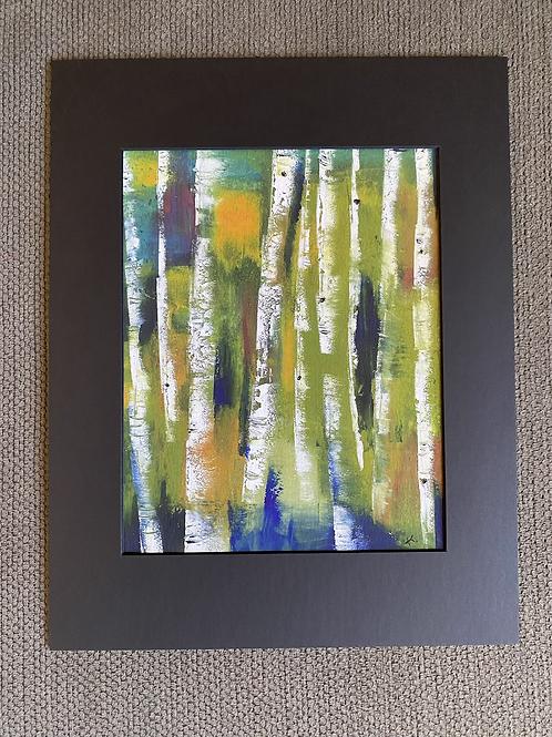 """""""Autumn Birch"""" Print Matted"""