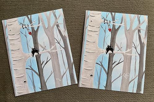 """Love Birds""~ Personalized Print"