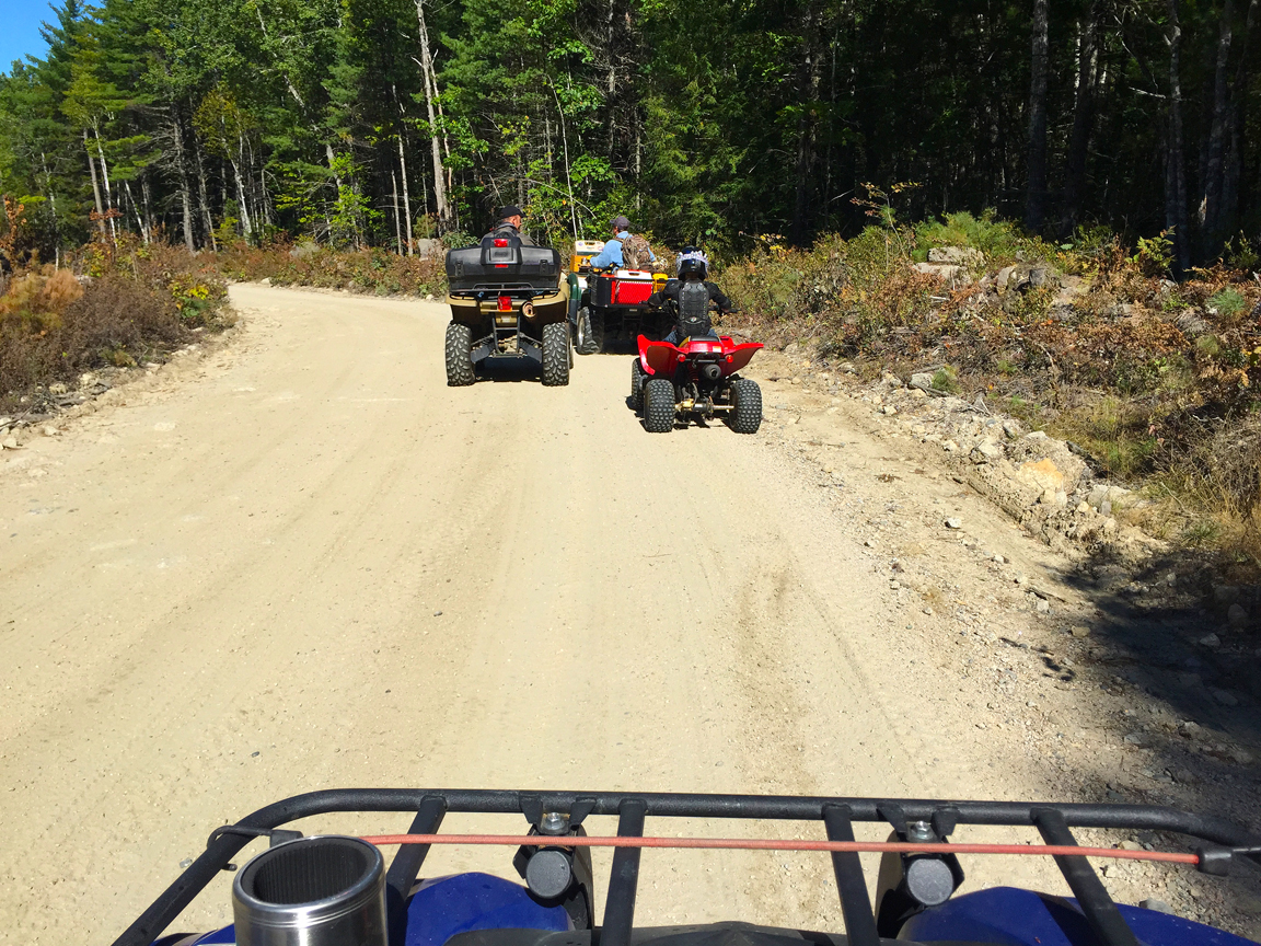 ATV riding at Wild Fox Cabins, Maine