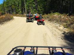 ATV riding at Wild Fox Cabins, Maine