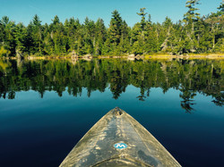 Kayaking on Junior Lake in Maine