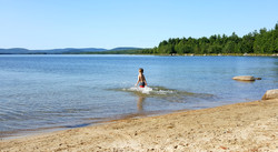 Swimming at Junior Lake, Maine