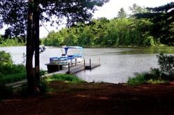 Boat ramp at Junior Lake, Maine