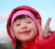 Young girl smiling on background of the