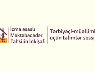 Tərbiyəçi-müəllimlər üçün növbəti təlimlər sessiyası