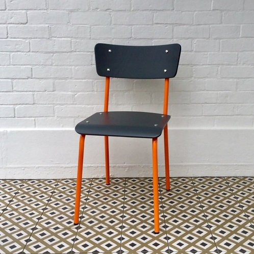 Archive Contemporary School Chair - Orange - 2  left