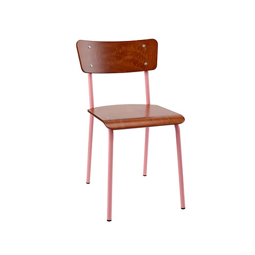 Archive Mahogany Contemporary School Chair - Pink