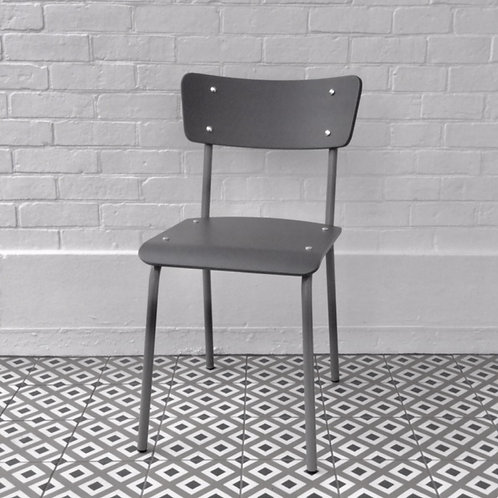 Archive Contemporary School Chair - Light Grey - 1 left