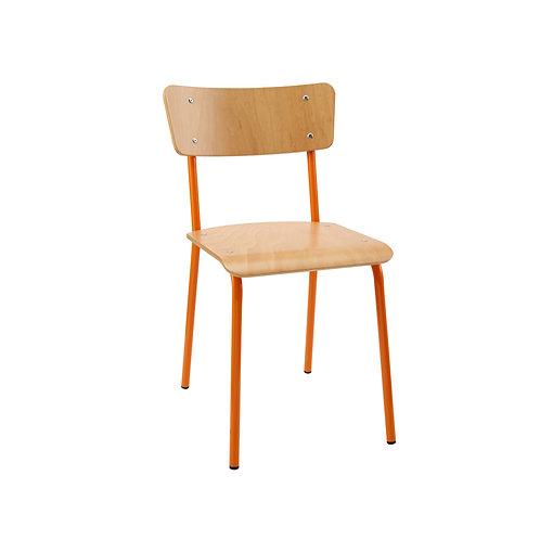Contemporary School Chair Orange Ref No.15