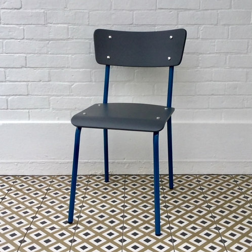 Archive Contemporary School Chair - Blue - 4 left