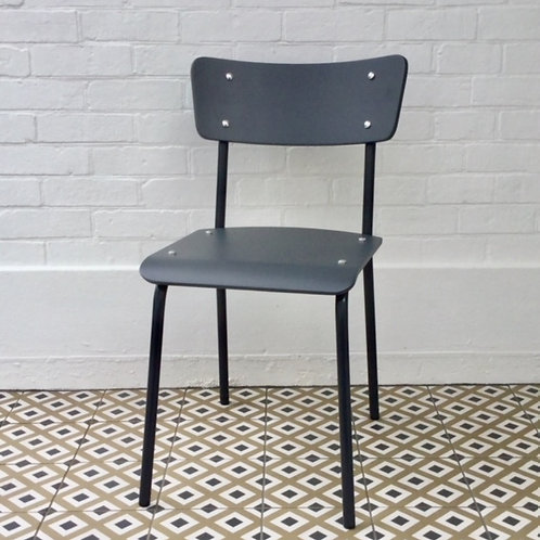 Archive Contemporary School Chair - Dark Grey - 1 left