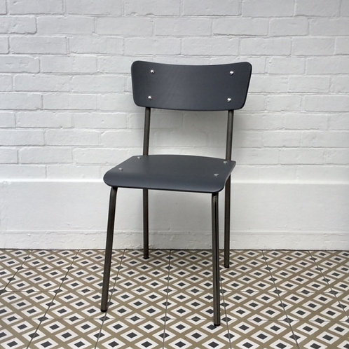 Archive Contemporary School Chair - Natural Steel - 2 left