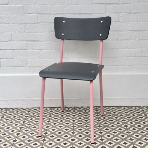 Archive Contemporary School Chair - Pink