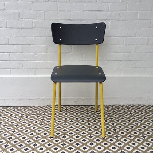 Archive Contemporary School Chair - Yellow