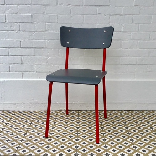 Archive Contemporary School Chair - Red