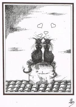 Les chats amoureux