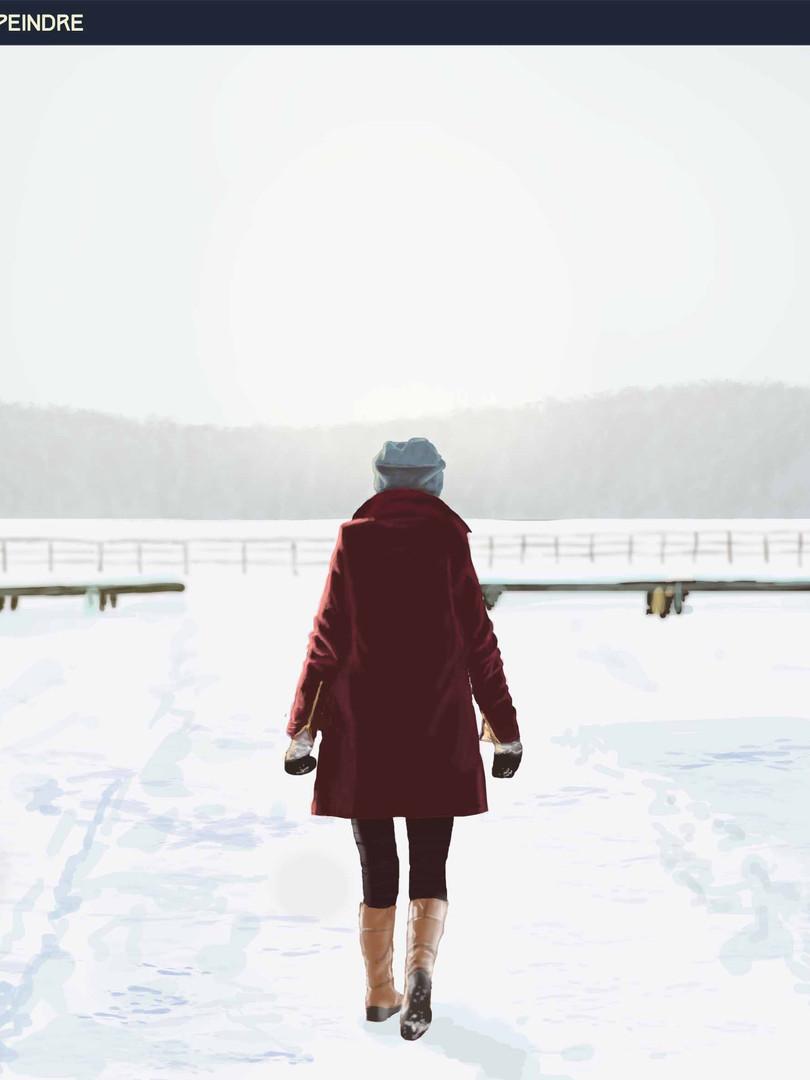 Le lac gelé.