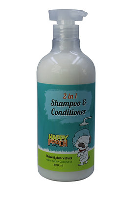 Smiley Pooch 2 in 1 Dog Shampoo and Conditioner 1000 ml