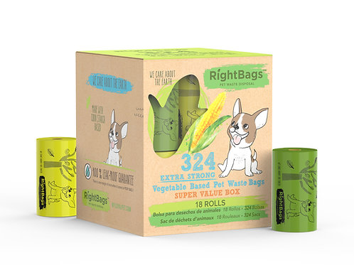 RightBags 324 Vegetable Based Pet Waste Bags