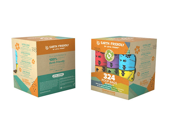 Earth Friendly Poop Bags 324 Odor Blocker Scented Bags